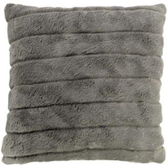 housse de coussin imitation fourrure et su dine gris eminza. Black Bedroom Furniture Sets. Home Design Ideas