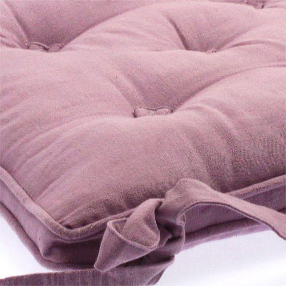 Coussin de chaise avec boutons parme eminza - Coussin couleur prune ...