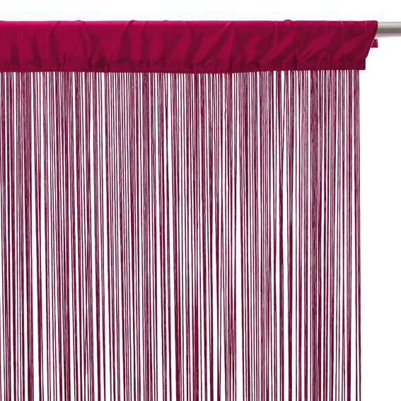 rideau fil l90 framboise eminza. Black Bedroom Furniture Sets. Home Design Ideas