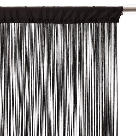 rideau fil l90 noir eminza. Black Bedroom Furniture Sets. Home Design Ideas