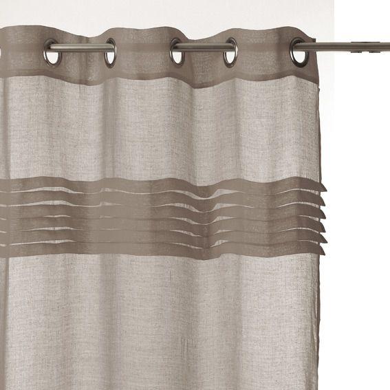 voilage volants taupe voilage eminza. Black Bedroom Furniture Sets. Home Design Ideas
