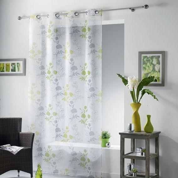 voilage oeillets elora vert eminza. Black Bedroom Furniture Sets. Home Design Ideas