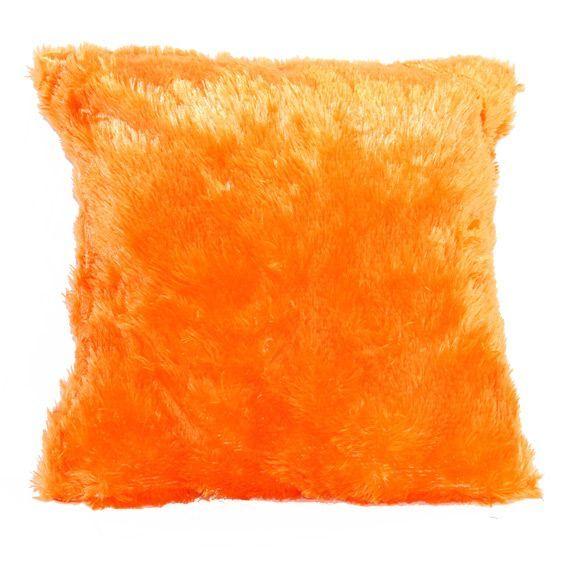 coussin peluche orange eminza. Black Bedroom Furniture Sets. Home Design Ideas