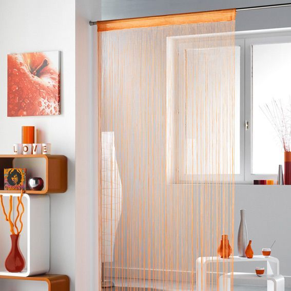 rideau fils orange eminza. Black Bedroom Furniture Sets. Home Design Ideas