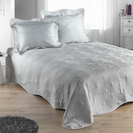 couvre lit matelass neptune gris perle eminza. Black Bedroom Furniture Sets. Home Design Ideas