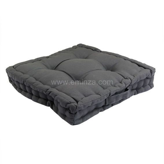 coussin de sol karlos gris anthracite eminza. Black Bedroom Furniture Sets. Home Design Ideas
