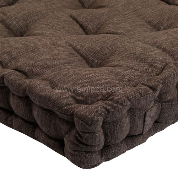 coussin de sol chocolat clair coussin de sol et pouf eminza. Black Bedroom Furniture Sets. Home Design Ideas