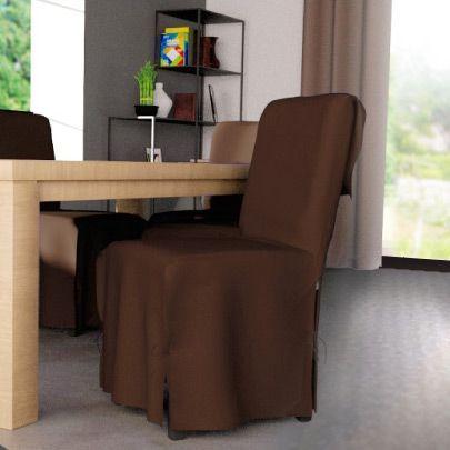 housse de chaise contemporaine chocolat housse de chaise eminza. Black Bedroom Furniture Sets. Home Design Ideas