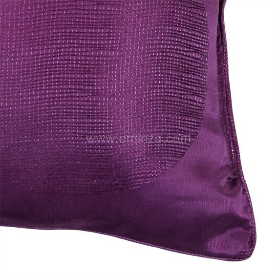 Coussin electra prune eminza - Coussin couleur prune ...
