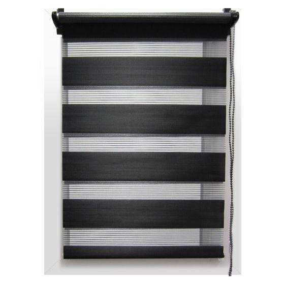 store enrouleur jour nuit 45 x h180 cm noir eminza. Black Bedroom Furniture Sets. Home Design Ideas
