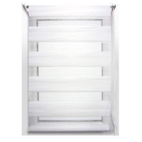 store enrouleur jour nuit 60 x h180 cm blanc eminza. Black Bedroom Furniture Sets. Home Design Ideas