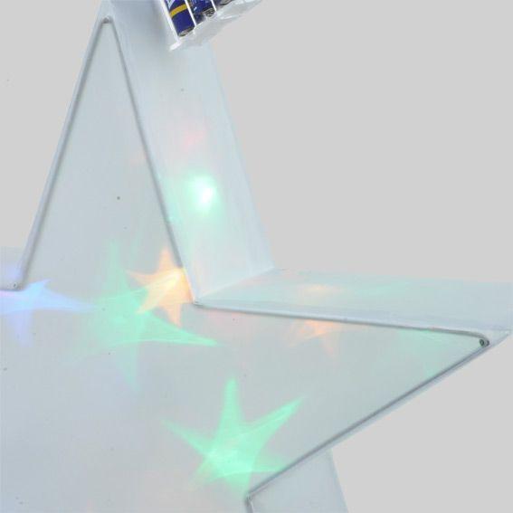 Etoile lumineuse hologramme 16 led multicolore - Etoile lumineuse exterieure noel ...