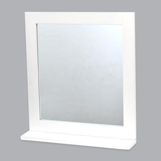 Miroir cosy blanc miroir eminza - Miroir salle de bain blanc ...