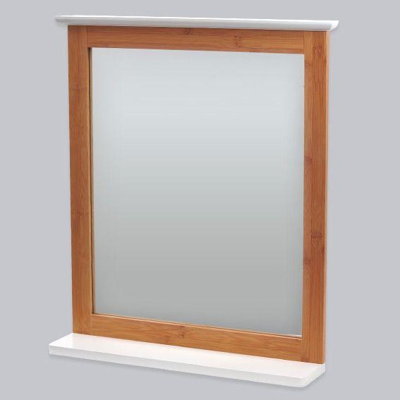 Miroir de salle de bain bakou bois bambou miroir eminza - Deco salle de bain bambou bois ...