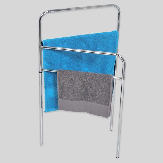 porte serviette sur pied 4 barres argent eminza. Black Bedroom Furniture Sets. Home Design Ideas