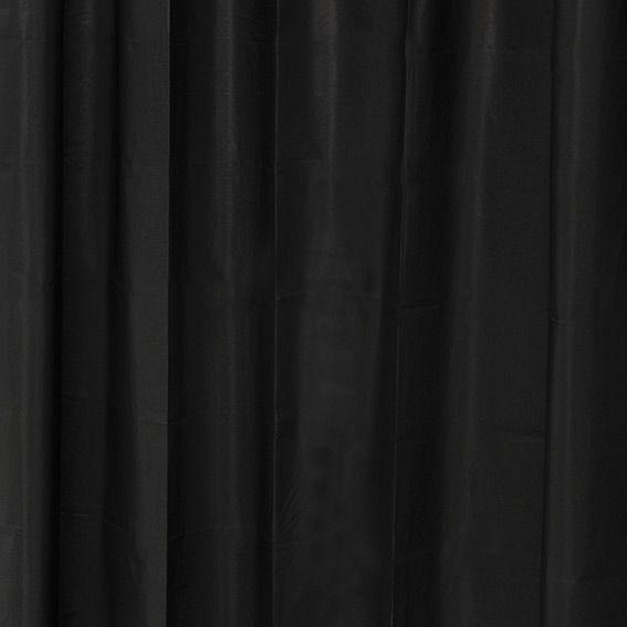 rideau de douche plastique uni noir eminza. Black Bedroom Furniture Sets. Home Design Ideas