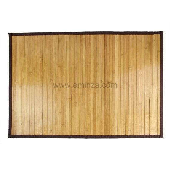 tapis de bain lattes naturelles fonc es bois bambou eminza. Black Bedroom Furniture Sets. Home Design Ideas