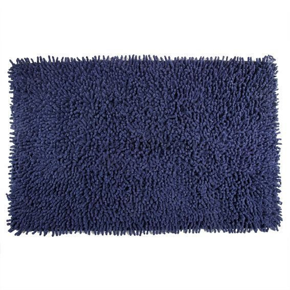 tapis de bain chenille marine bleu eminza. Black Bedroom Furniture Sets. Home Design Ideas