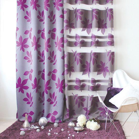 rideau oeillets occultant h240 fleurs turquoise eminza. Black Bedroom Furniture Sets. Home Design Ideas