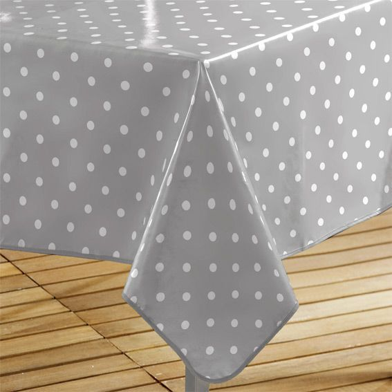 nappe cir e rectangulaire l240 cm lollypop gris eminza. Black Bedroom Furniture Sets. Home Design Ideas