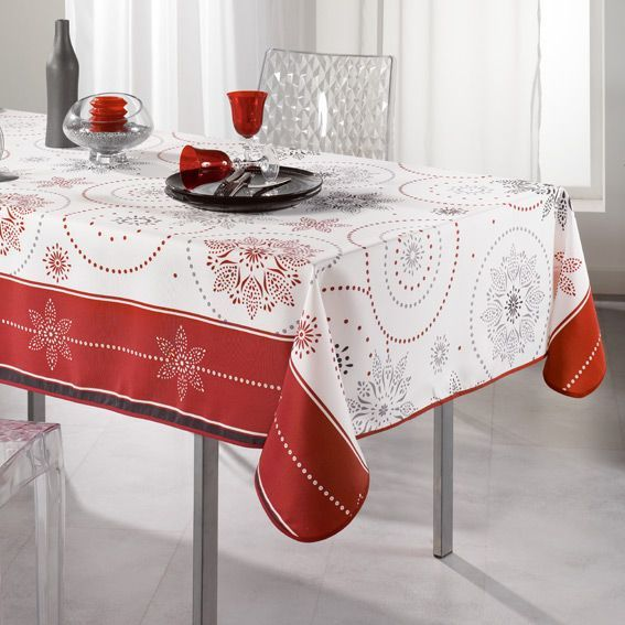 nappe rectangulaire l240 cm astree rouge eminza. Black Bedroom Furniture Sets. Home Design Ideas