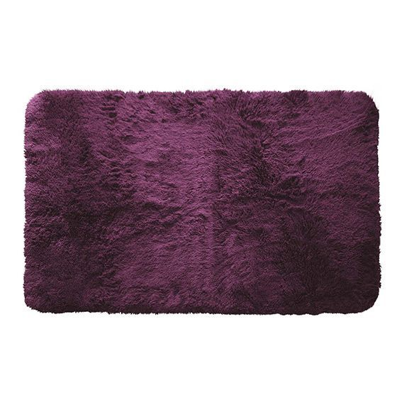 tapis imitation fourrure marmotte l80 cm aubergine eminza. Black Bedroom Furniture Sets. Home Design Ideas