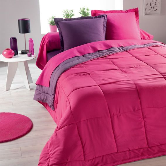 couette bicolore demi saison 240 cm noir eminza. Black Bedroom Furniture Sets. Home Design Ideas