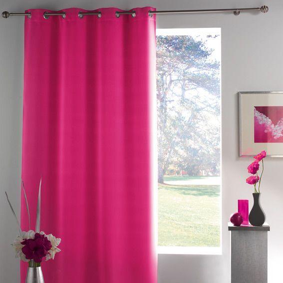 rideau occultant 140 x h260 cm lumia fuchsia rideau. Black Bedroom Furniture Sets. Home Design Ideas