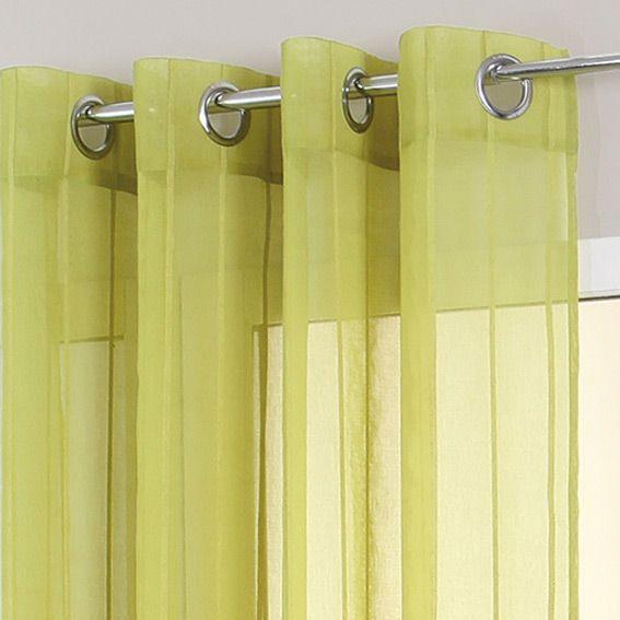 voilage oeillets aligna vert anis eminza. Black Bedroom Furniture Sets. Home Design Ideas