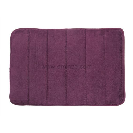 tapis de bain coton olga violet eminza. Black Bedroom Furniture Sets. Home Design Ideas