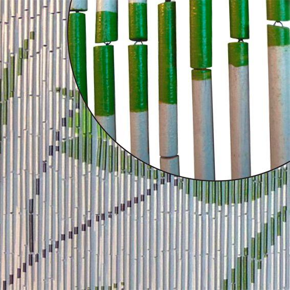 rideau de porte bambou imprim feuilles eminza. Black Bedroom Furniture Sets. Home Design Ideas