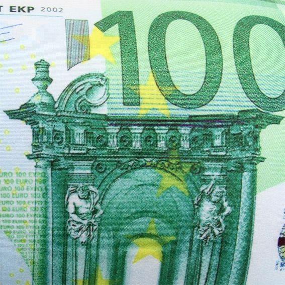 Coussin microbilles billet de 100 euros eminza for Canape 100 euros