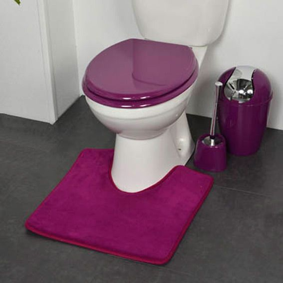 tapis contour wc design violet eminza. Black Bedroom Furniture Sets. Home Design Ideas