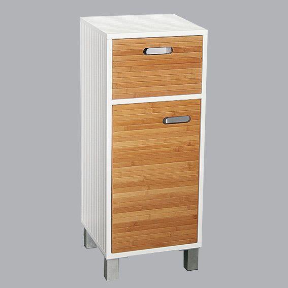 Meuble bas de salle de bain sweden blanc meuble bas eminza for Meuble salle de bain bas