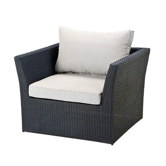 fauteuil de jardin s villa noir sable salon de jardin d tente eminza. Black Bedroom Furniture Sets. Home Design Ideas
