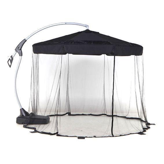 Moustiquaire pour parasol d port diam tre 3 m eminza - Parasol sur pied deporte ...