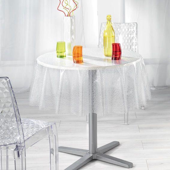 nappe ronde ecaille cristal eminza. Black Bedroom Furniture Sets. Home Design Ideas