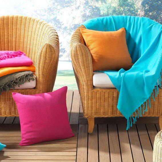 plaid en coton 150 cm lana bleu turquoise plaid coton. Black Bedroom Furniture Sets. Home Design Ideas