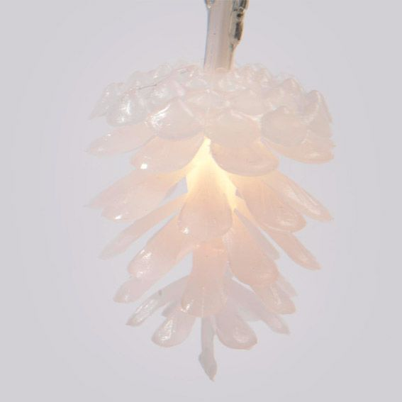 guirlande lumineuse pommes de pin blanc chaud decoration. Black Bedroom Furniture Sets. Home Design Ideas