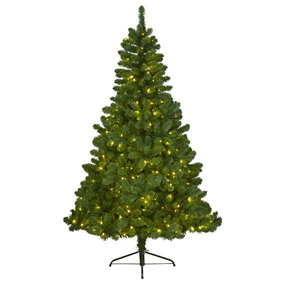 Sapin de no l lumineux imperial led blanc chaud h210 cm eminza - Sapin lumineux led ...