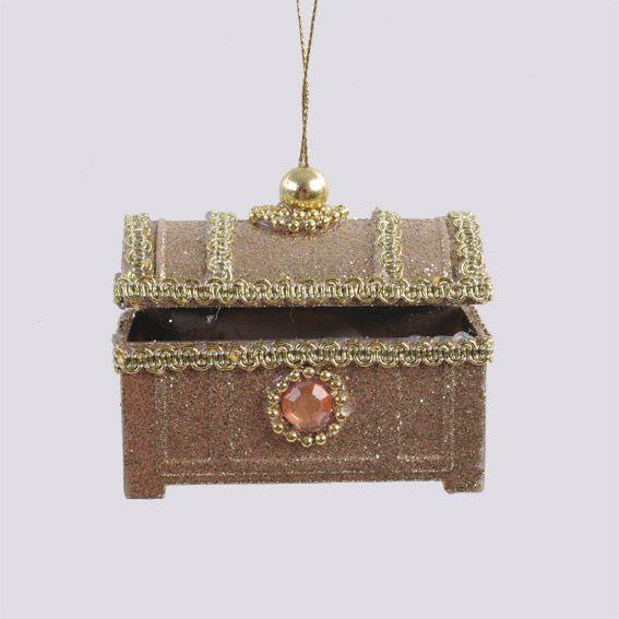 Suspension boite bijoux de no l or d coration for Decoration boite a bijoux
