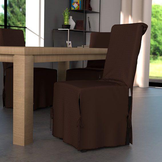 housse de chaise palermo chocolat housse de chaise eminza. Black Bedroom Furniture Sets. Home Design Ideas