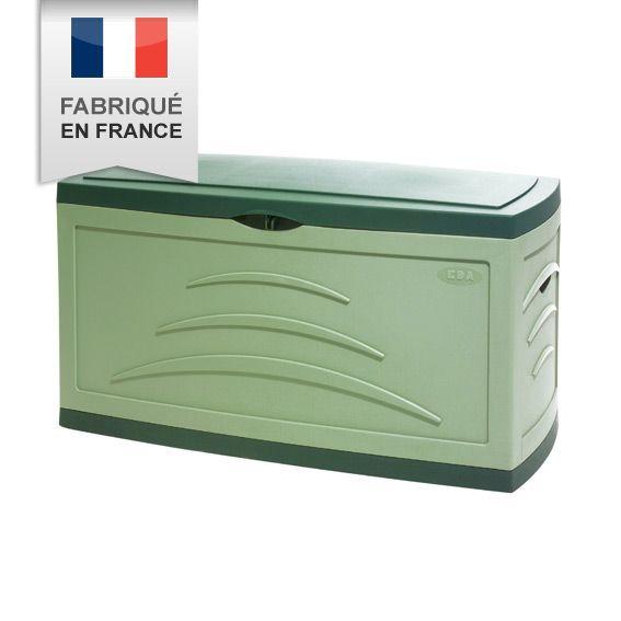 malle de jardin serena 310l vert coffre de rangement eminza. Black Bedroom Furniture Sets. Home Design Ideas