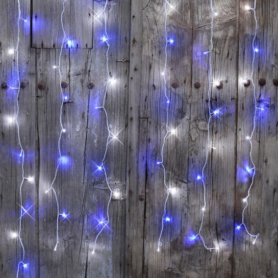 rideau lumineux interconnectable h2 m bicolore 96 led guirlande lumineuse eminza. Black Bedroom Furniture Sets. Home Design Ideas