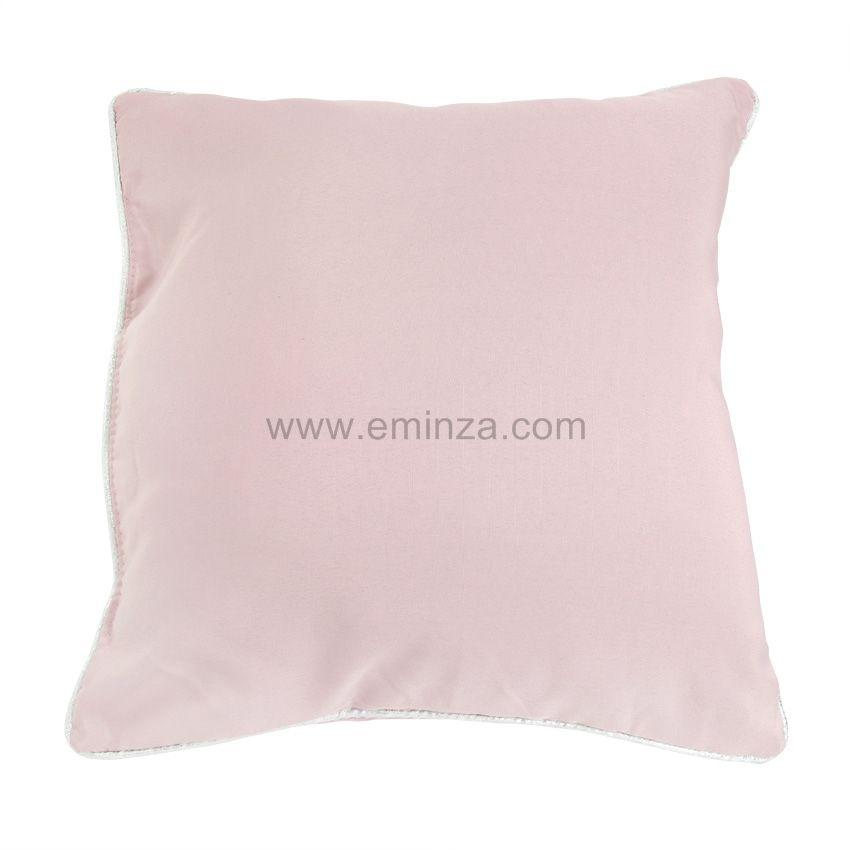 coussin microfibre platine rose drag e coussin et housse de coussin eminza. Black Bedroom Furniture Sets. Home Design Ideas