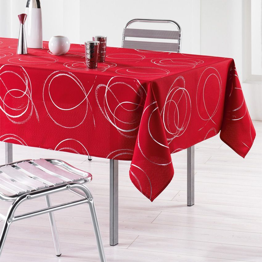 nappe rectangulaire l240 cm bully rouge nappe de table eminza. Black Bedroom Furniture Sets. Home Design Ideas