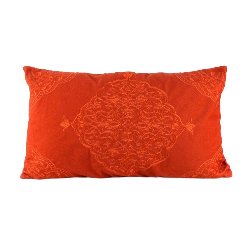coussin rectangulaire laly brod orange coussin et housse de coussin eminza. Black Bedroom Furniture Sets. Home Design Ideas