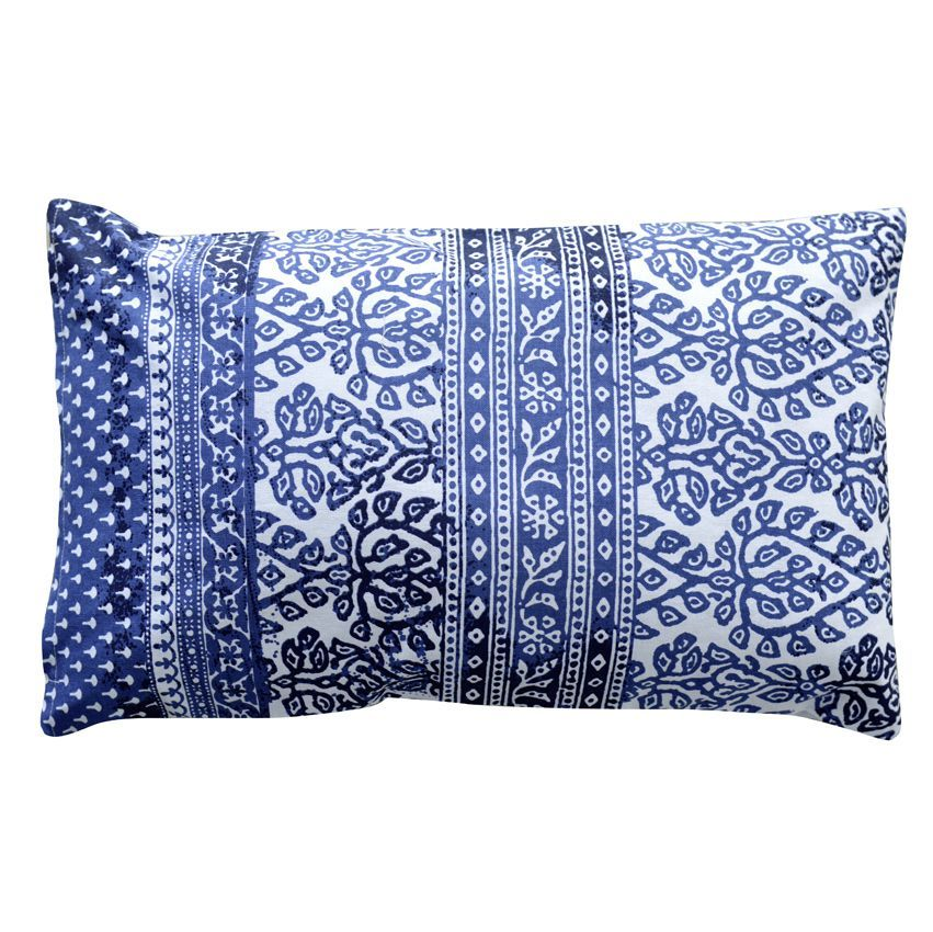 coussin rectangulaire aya bleu coussin et housse de coussin eminza. Black Bedroom Furniture Sets. Home Design Ideas