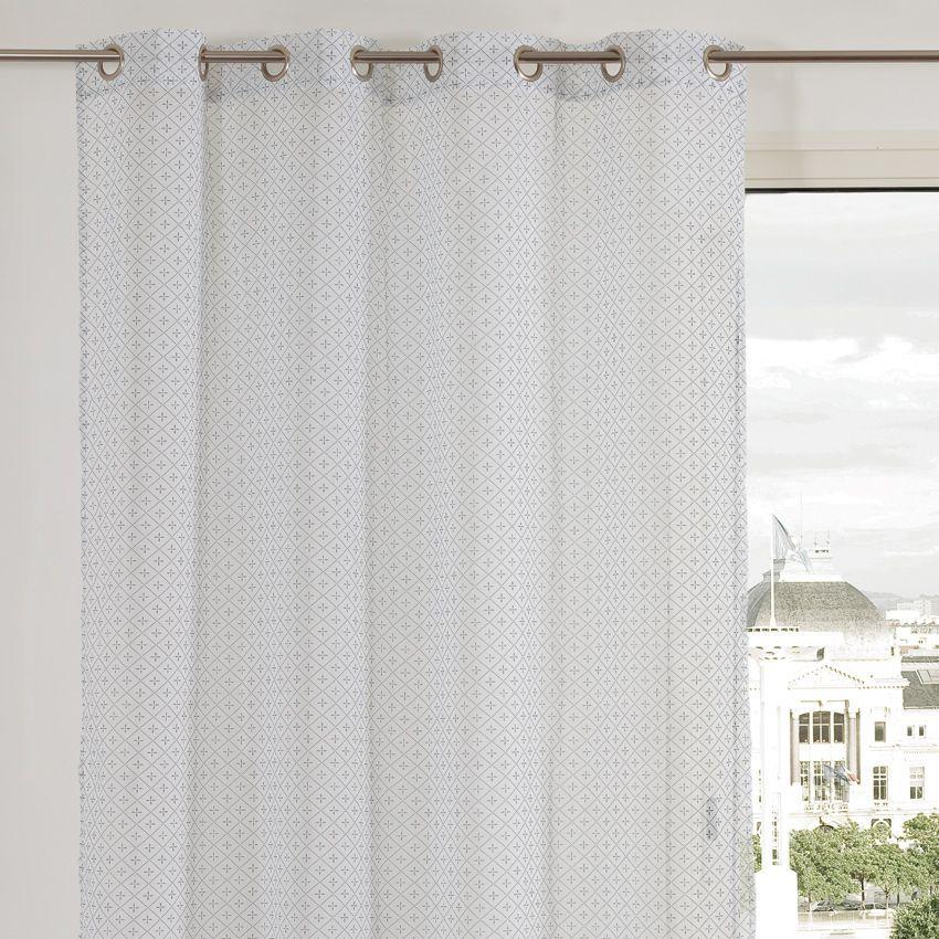 rideau 140 x 240 cm alec noir rideaux eminza. Black Bedroom Furniture Sets. Home Design Ideas