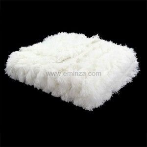 plaid imitation fourrure sib rien ivoire plaid imitation. Black Bedroom Furniture Sets. Home Design Ideas